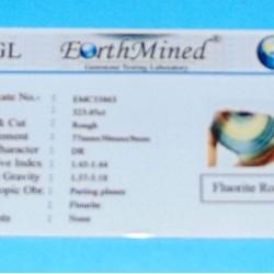 Regenboog Fluoriet ACC - Brazilië - 323 kt - certificaat