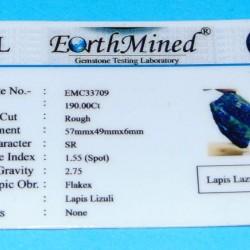 Lapis Lazuli ACA - Afghanistan - 190 karaat - certificaat