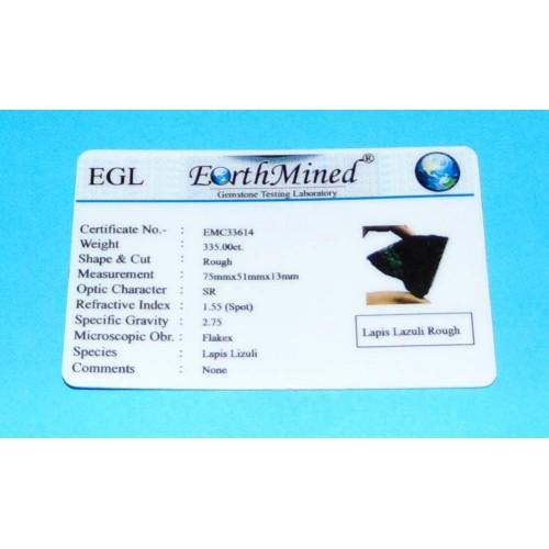 Lapis Lazuli ACB - Afghanistan - 335 karaat - certificaat