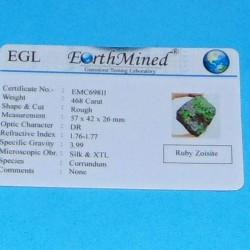 Robijn met Zoisiet ACB - Afrika - 468 karaat - certificaat