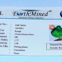 Robijn in Zoisiet ACC - Afrika - 104,9 karaat - certificaat