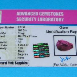 Roze Saffier ACQ - Madagaskar - 168 karaat - met certificaat