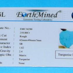 Turkoois ACB - Arizona - 210,8 karaat - met certificaat