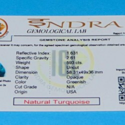 Turkoois ACC - Arizona - 593 karaat - met certificaat