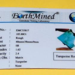 Turkoois ACD - Arizona - 105,80 karaat - met certificat