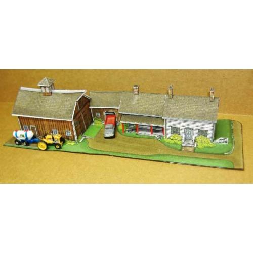 Amerikaanse boerderij in Z (1:220) - papieren bouwplaat