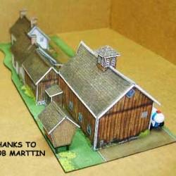 Amerikaanse boerderij in N (1:160) - papieren bouwplaat
