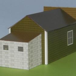 Sheriff's kantoor in 1:72 - papieren bouwplaat