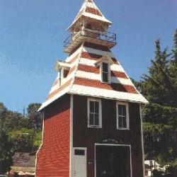 Brandweerkazerne Auburn in N (1:160) - papieren bouwplaat