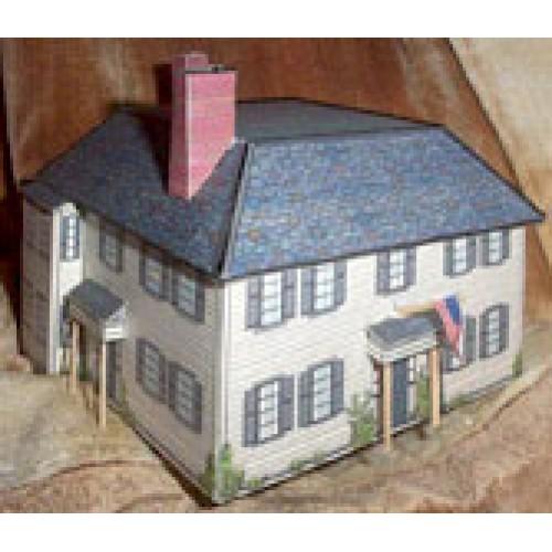 Emerson huis in N (1:160) - papieren bouwplaat