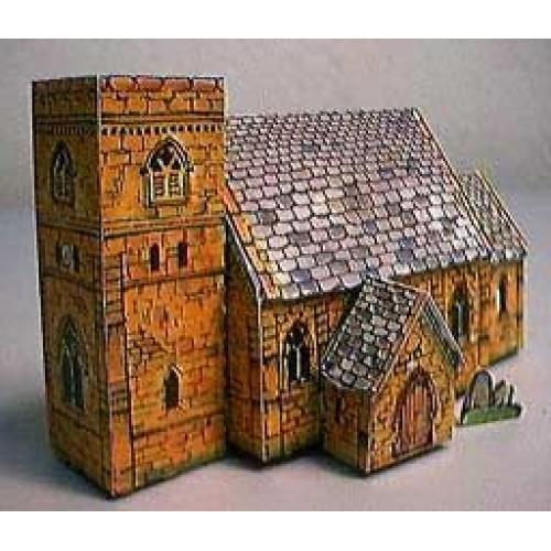 Britse gotische kerk in Z (1:220) - papieren bouwplaat
