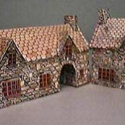 Britse herberg in h0 (1:87) - papieren bouwplaat