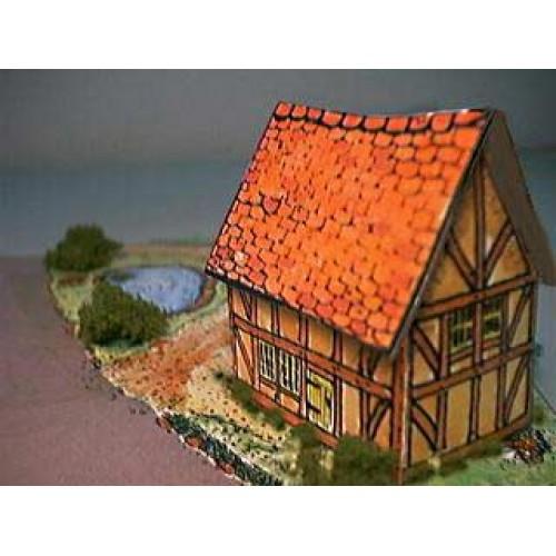 Britse vakwerk cottage in N (1:160) - papieren bouwplaat