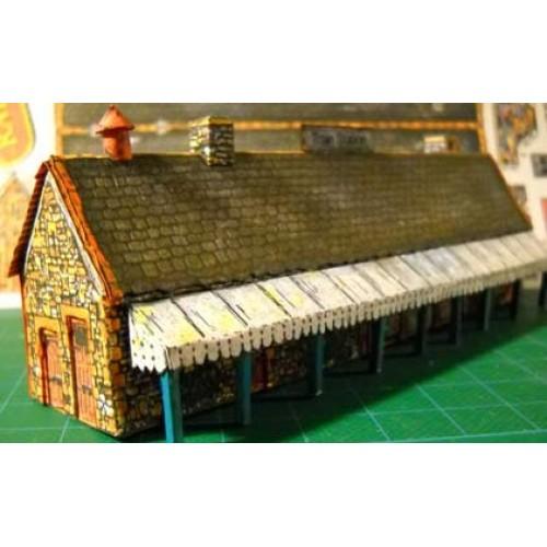 Engels station in h0 (1:87) - papieren bouwplaat