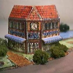 Britse antiekwinkel in h0 (1:87) - papieren bouwplaat