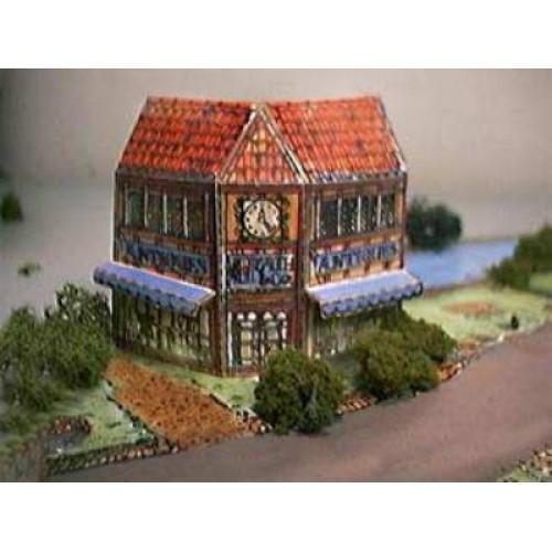 Britse antiekwinkel in N (1:160) - papieren bouwplaat