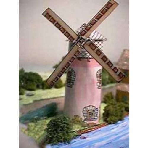 Britse korenmolen in h0 (1:87) - papieren bouwplaat