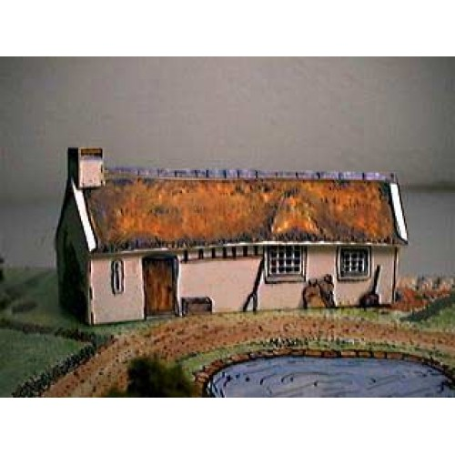 Burns cottage in Z (1:220) - papieren bouwplaat