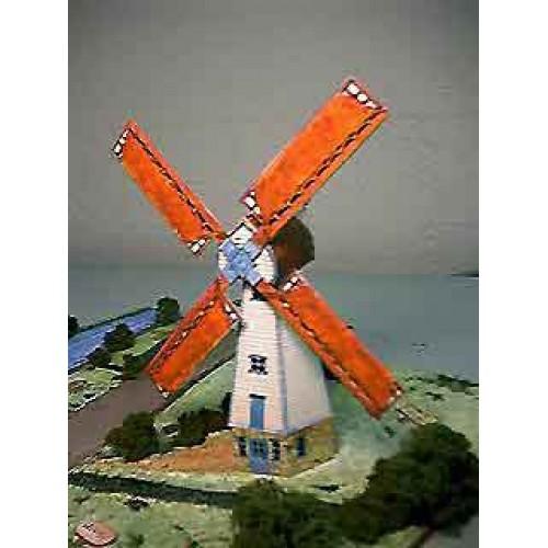Engelse windmolen in h0 (1:87) - papieren bouwplaat