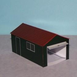 Houten garage in 1:60 (Matchbox schaal) - papieren bouwplaat