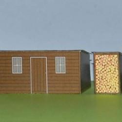 Bijgebouwen in h0 (1:87) - papieren bouwplaat