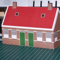 Arbeidershuisjes in 1:72 - papieren bouwplaat