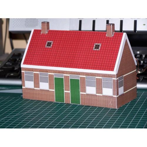 Arbeidershuisjes in 1:56 (28mm) - papieren bouwplaat