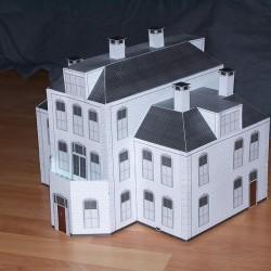 Grote villa in 1:100 (FoW e.d.) - papieren bouwplaat