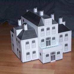Grote villa in 1:72 - papieren bouwplaat