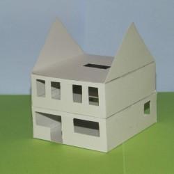 Woonhuis in aanbouw in 1:50 - papieren bouwplaat