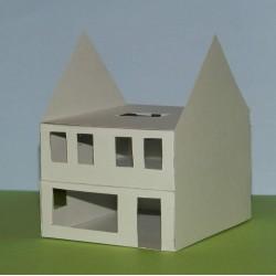 Woonhuis in aanbouw in N (1:160) - papieren bouwplaat