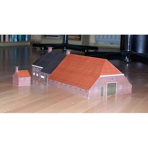 Groninger boerderij in N (1:160) - papieren bouwplaat