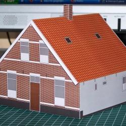 Boerenwoning in TT (1:120) - papieren bouwplaat