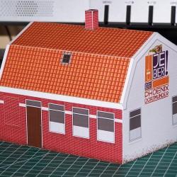 Dorpscafé in 1:50 - papieren bouwplaat