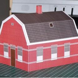 Dorpshuis in 1:100 (FoW e.d.) - papieren bouwplaat