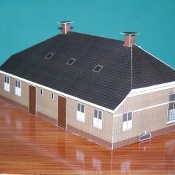 Winkel/woonhuis in TT (1:120) - papieren bouwplaat