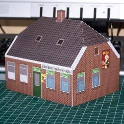 Dorpswinkel in 1:100 (FoW) - papieren bouwplaat