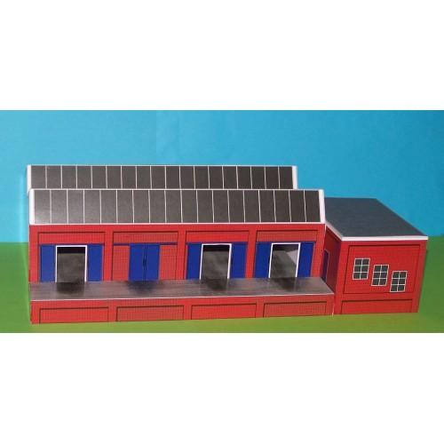 Expeditiegebouw met laaddok in N (1:160) -papieren bouwplaat