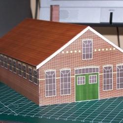 Oude werkplaats in N (1:160) - papieren bouwplaat