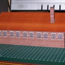Oude werkplaats in 1:100 (FoW e.d.) - papieren bouwplaat