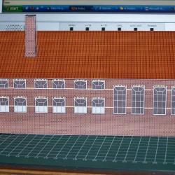 Kantoor- en Magazijngebouw in N (1:160) - papieren bouwplaat