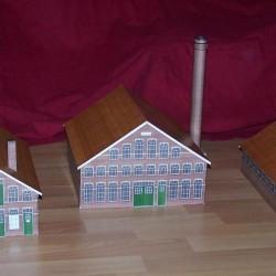Oude fabriek in h0 (1:87) - papieren bouwplaat