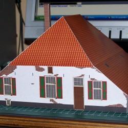 Oude Gelderse boerderij in 1:50 - papieren bouwplaat