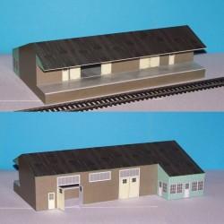 Goederenloods in N (1:160) - papieren bouwplaat