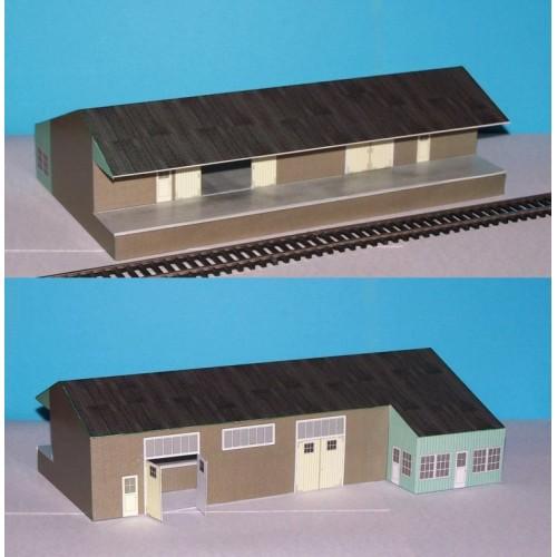 Goederenloods in Z (1:220) - papieren bouwplaat