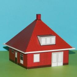 Huis met tentdak in N (1:160) - papieren bouwplaat