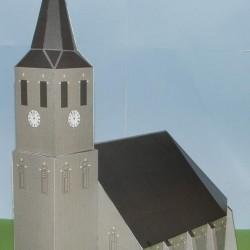 Kerk in 1:100 (FoW e.d.) - blank glas-in-lood