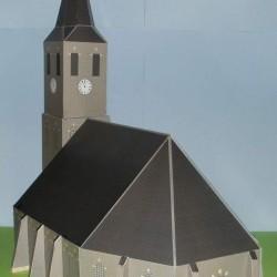 Kerk in 1:100 (FoW e.d.) - gekleurd glas-in-lood