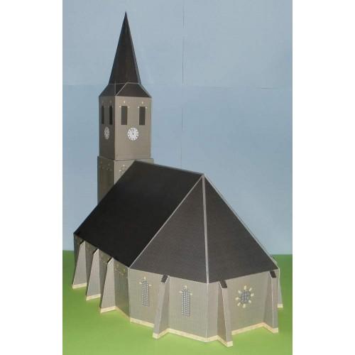 Kerk in 1:100 (FoW e.d.) - papieren bouwplaat