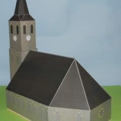 Kerk in 1:72 - papieren bouwplaat
